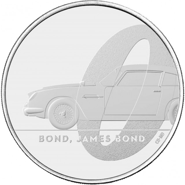 5 Sterline in Cu.Ni.- James Bond 007 collection coin#1